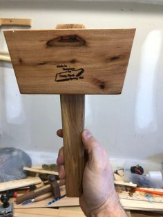 Fallen cherry tree becomes a joiner's mallet